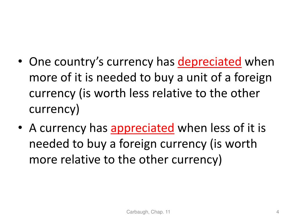 One country's currency has