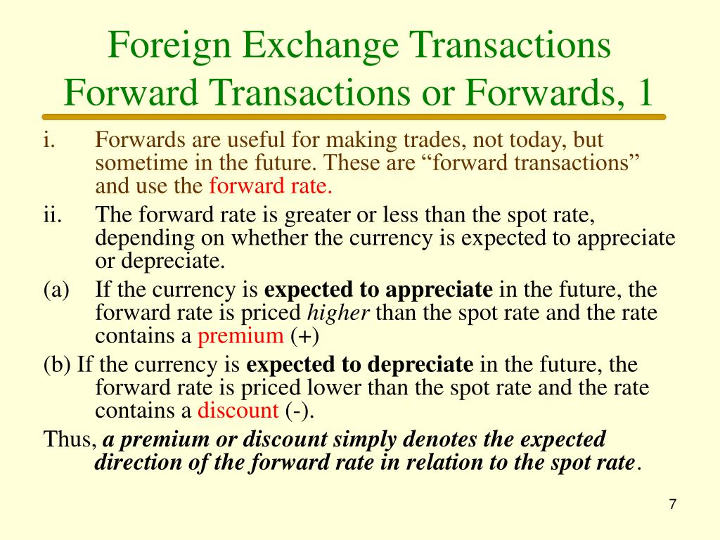 Foreign Exchange Transactions