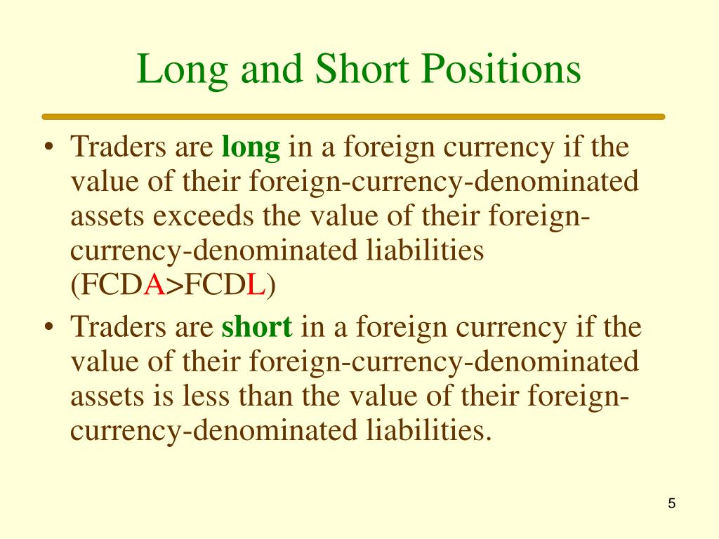 Long and Short Positions
