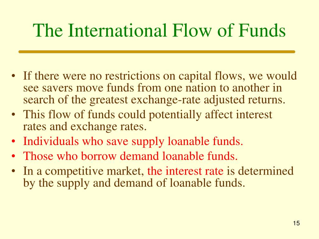 The International Flow of Funds