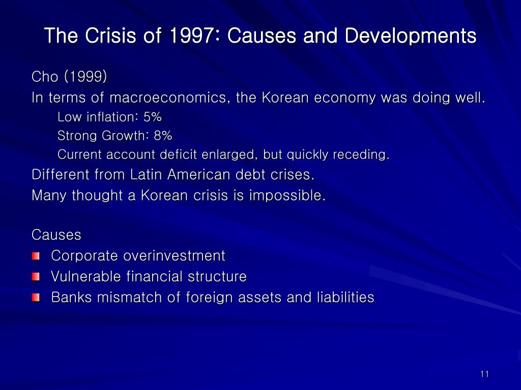 The Crisis of 1997: Causes and Developments