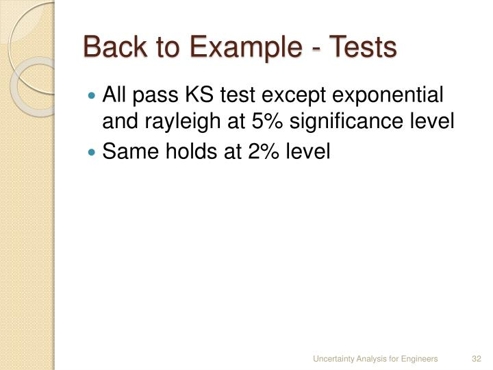 Back to Example - Tests