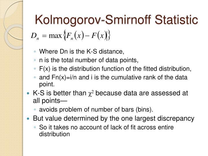 Kolmogorov-Smirnoff Statistic