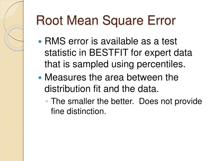 Root Mean Square Error