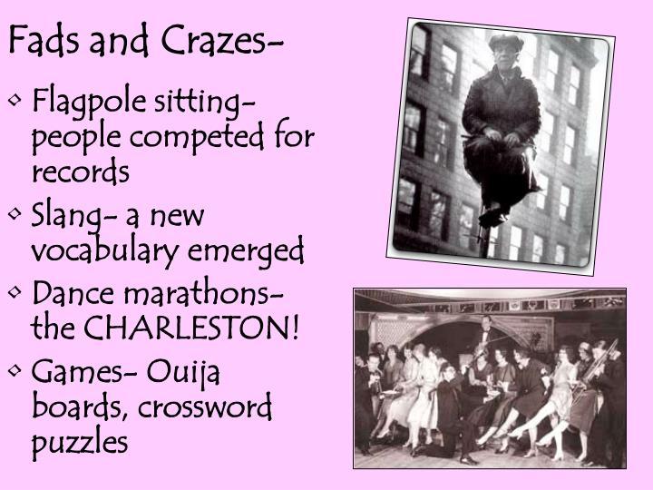Fads and Crazes-