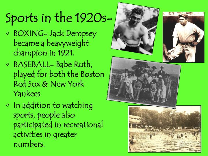 Sports in the 1920s-