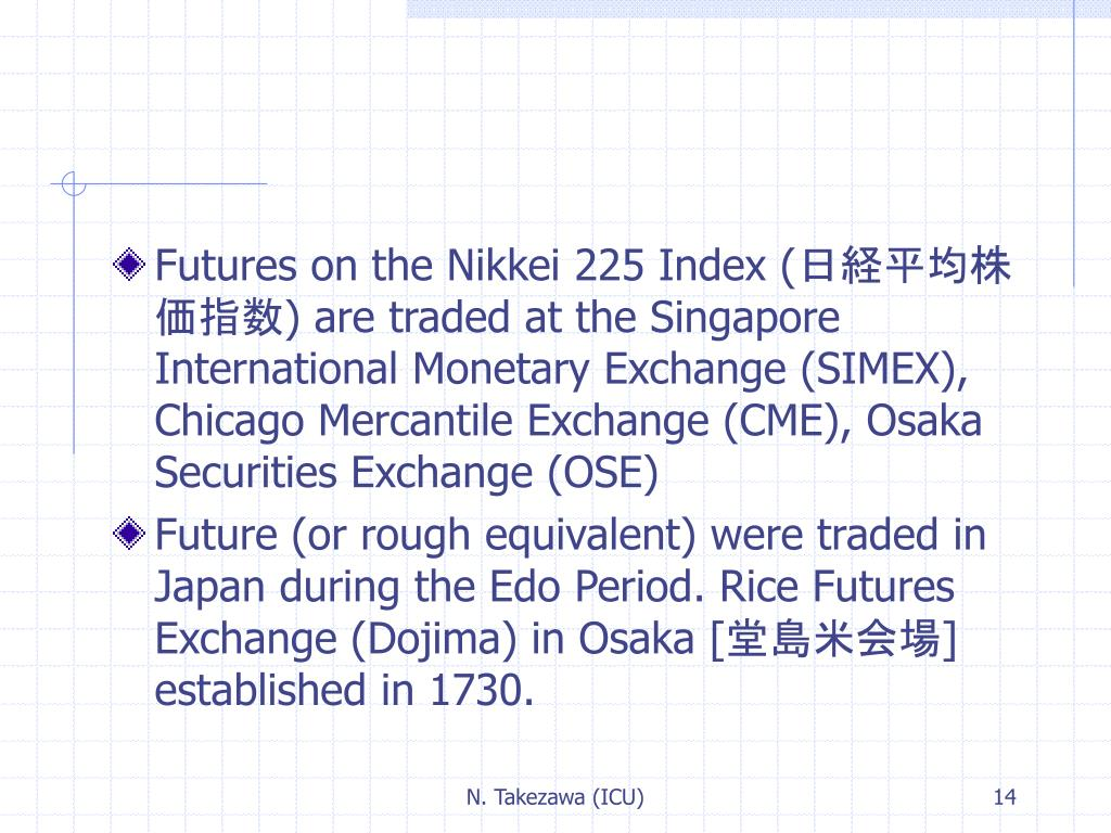 Futures on the Nikkei 225 Index (