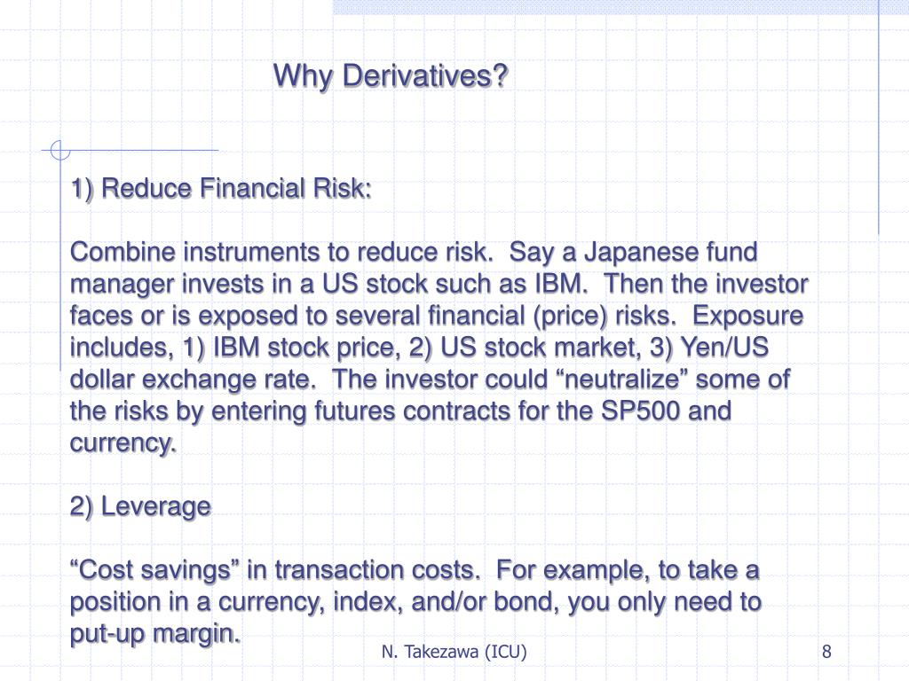 Why Derivatives?