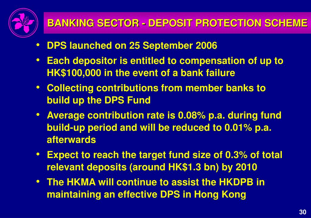 BANKING SECTOR - DEPOSIT PROTECTION SCHEME
