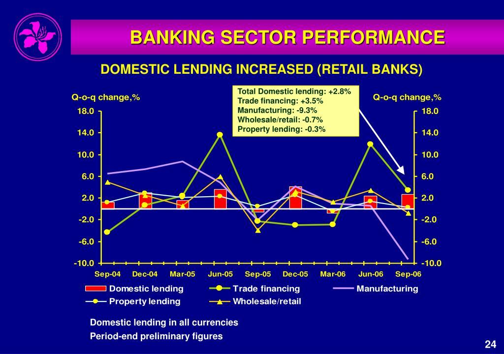 Total Domestic lending: +2.8%