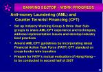 banking sector work progress29
