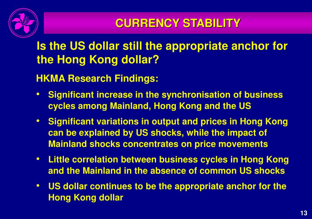 HKMA Research Findings: