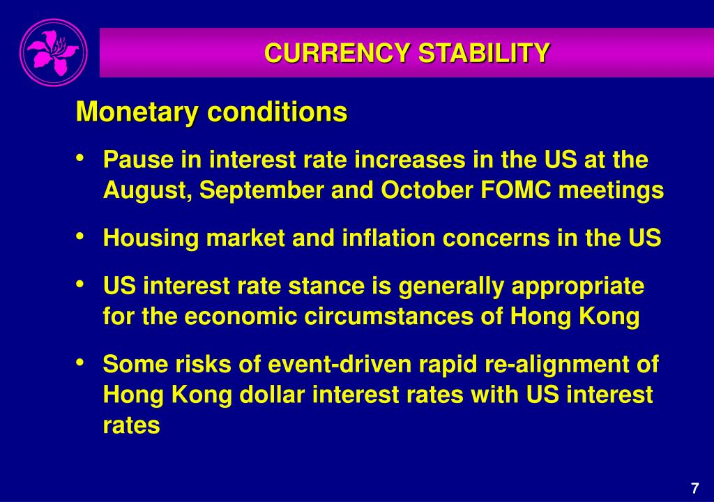 CURRENCY STABILITY