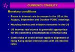 monetary conditions