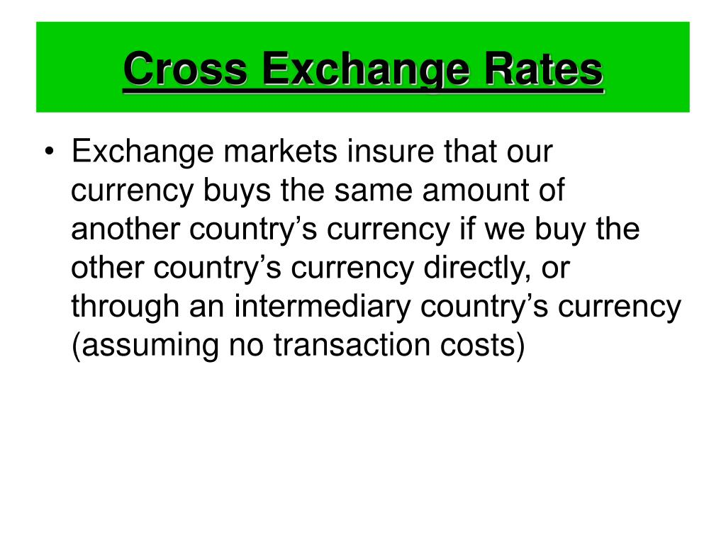 Cross Exchange Rates