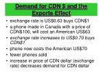 demand for cdn and the exports effect
