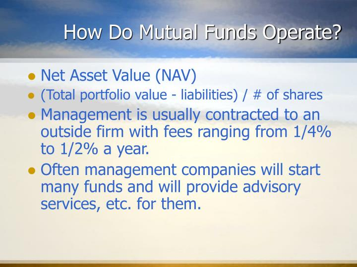 How Do Mutual Funds Operate?