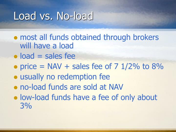 Load vs. No-load