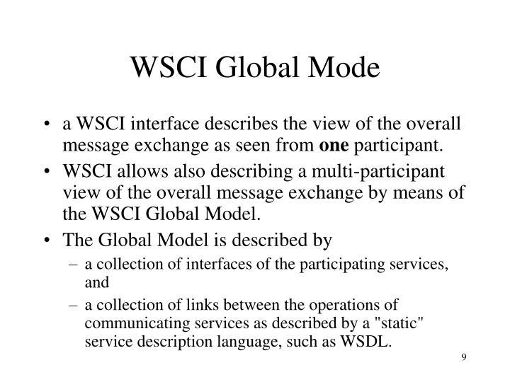 WSCI Global Mode