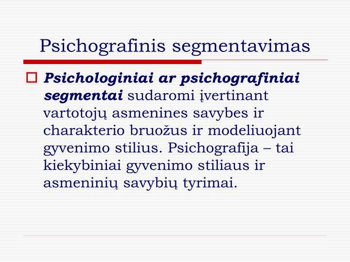 Psichografinis segmentavimas