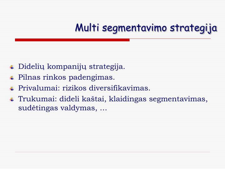 Multi segmentavimo strategija
