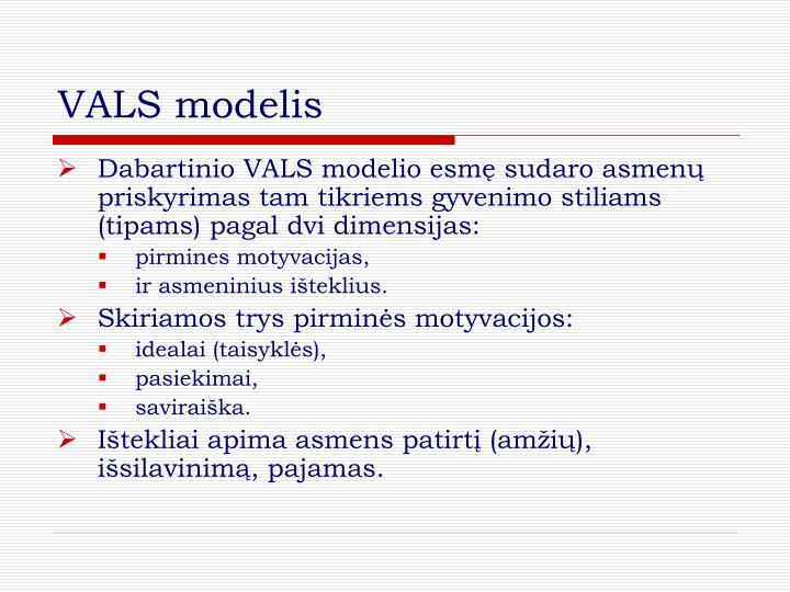 VALS modelis