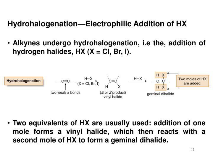 Hydrohalogenation—Electrophilic