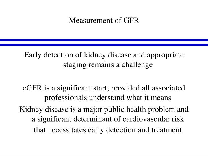 Measurement of GFR