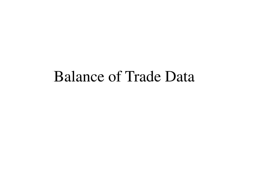 Balance of Trade Data