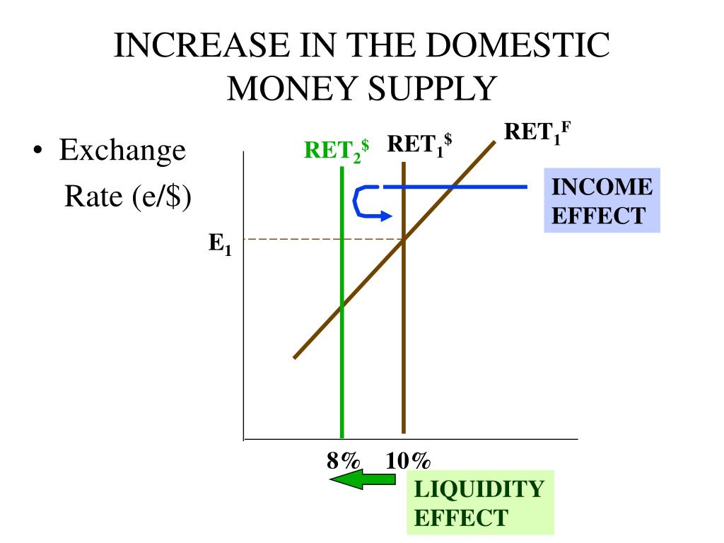 INCREASE IN THE DOMESTIC MONEY SUPPLY