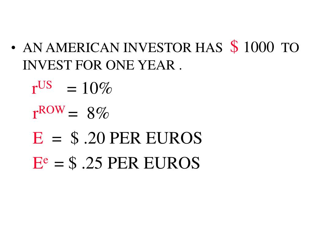 AN AMERICAN INVESTOR HAS