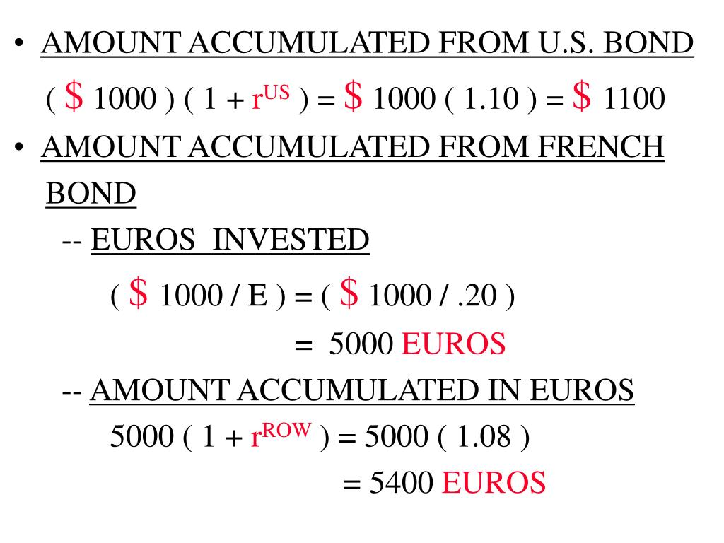 AMOUNT ACCUMULATED FROM U.S. BOND