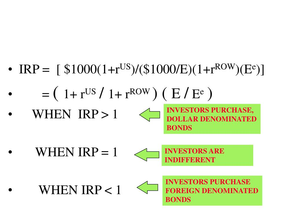 IRP =  [ $1000(1+r