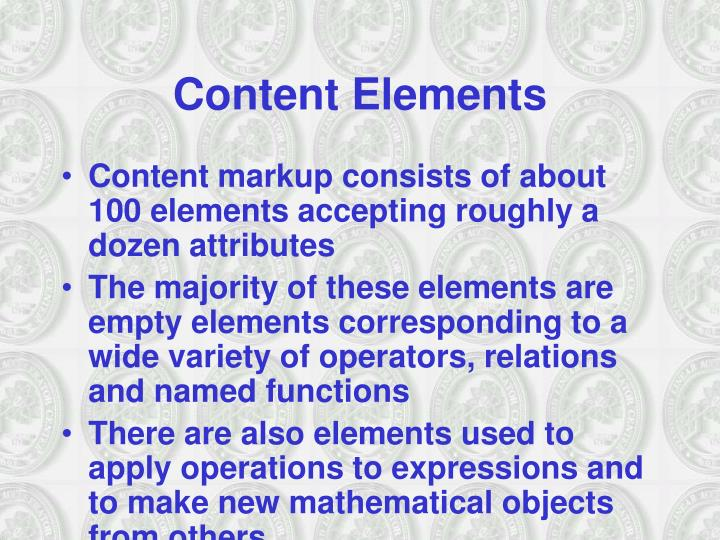 Content Elements