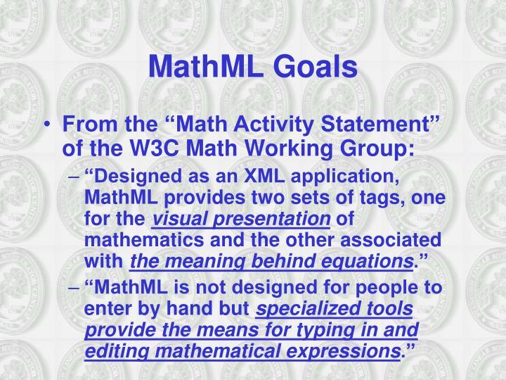 MathML Goals