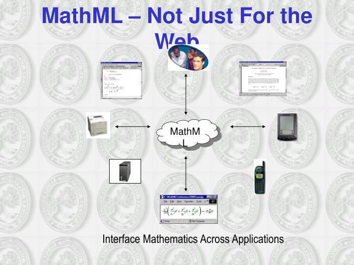 MathML – Not Just For the Web