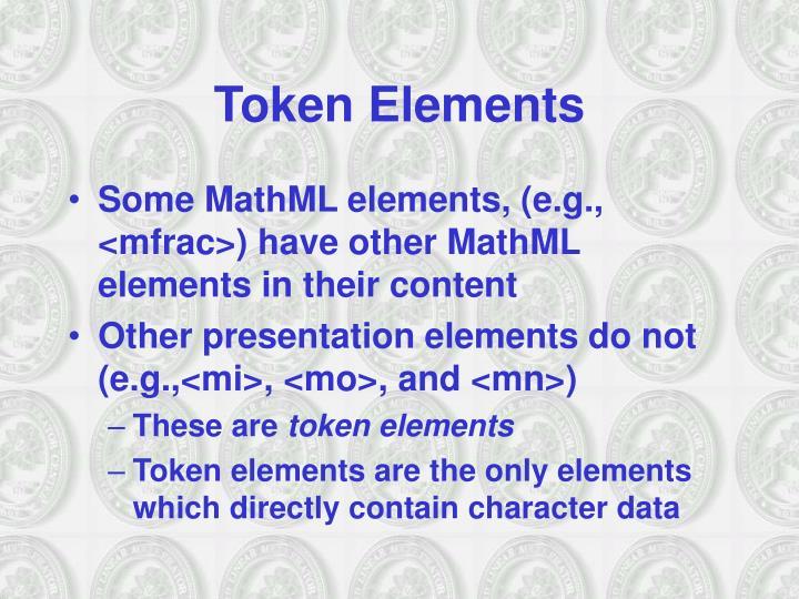 Token Elements