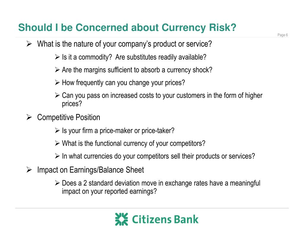Should I be Concerned about Currency Risk?