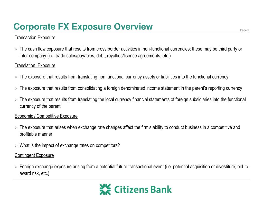 Corporate FX Exposure Overview