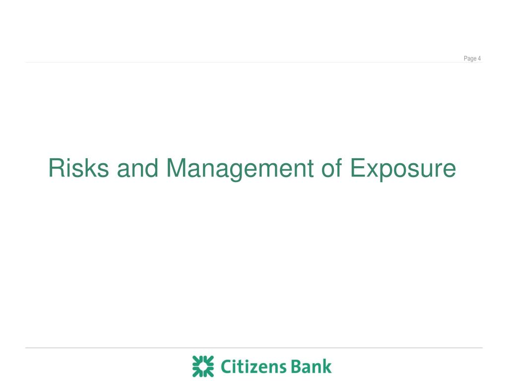 Risks and Management of Exposure