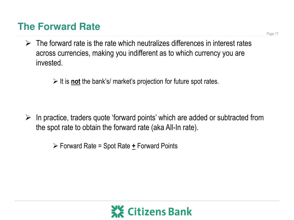 The Forward Rate
