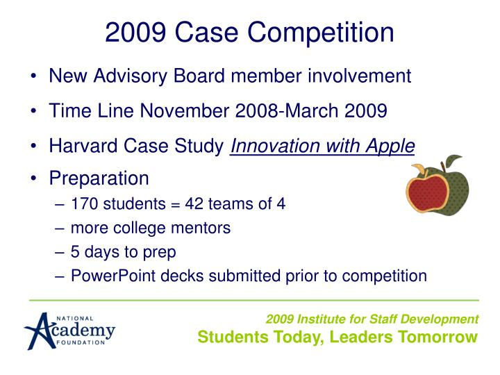 2009 Case Competition