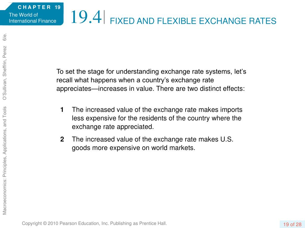 FIXED AND FLEXIBLE EXCHANGE RATES