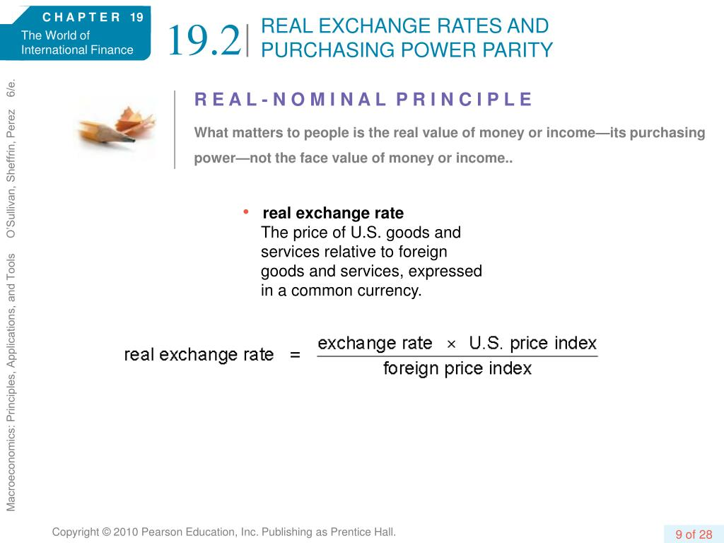 REAL EXCHANGE RATES AND