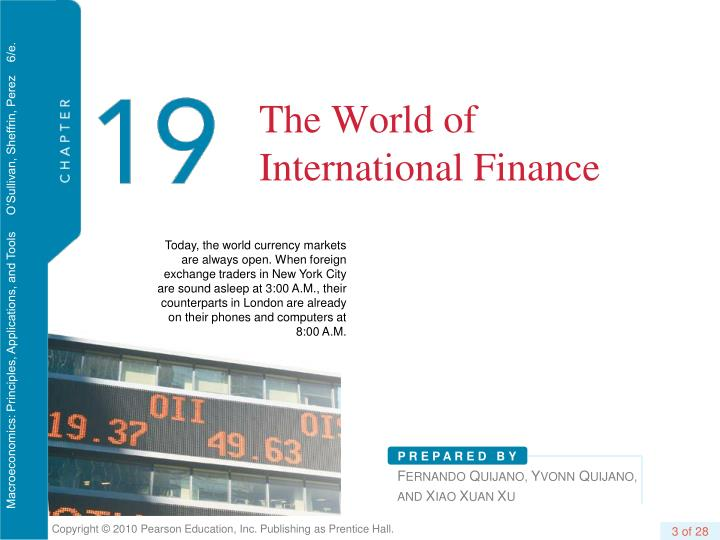 The world of international finance