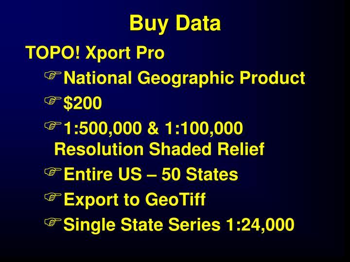 Buy Data