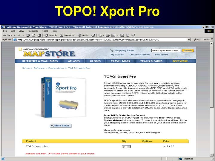 TOPO! Xport Pro