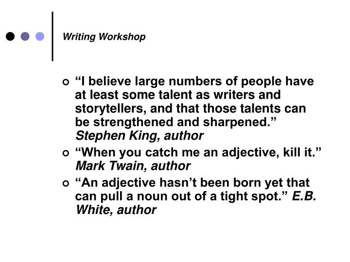 Writing workshop1