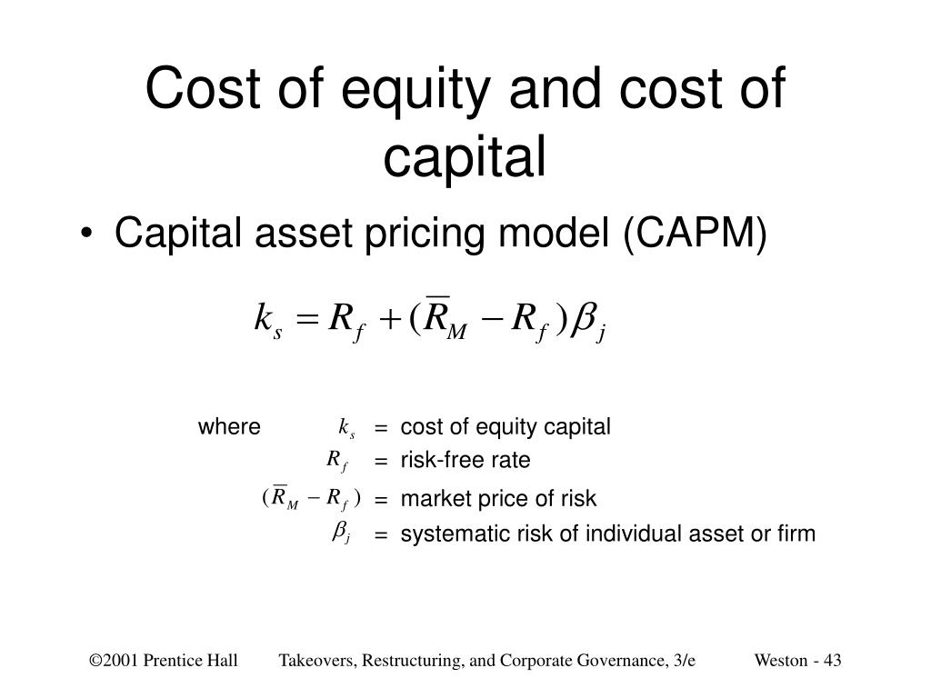 Cost of equity and cost of capital