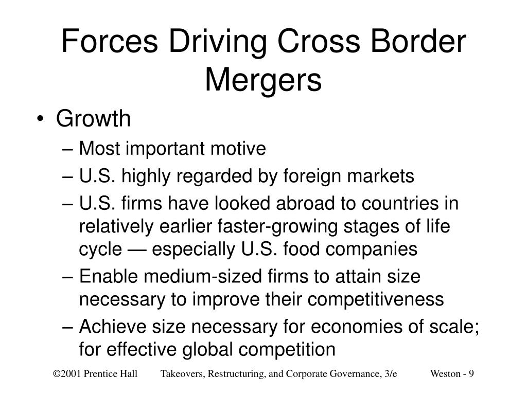 Forces Driving Cross Border Mergers